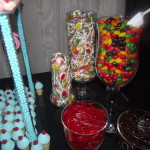 Colorful Candy Table: candy jars