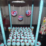 Colorful Candy Table: candy cones