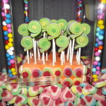 Colorful Candy Table: licorice pops